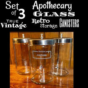 ▪️VTG▪️Apothecary Glass Retro Storage Canisters